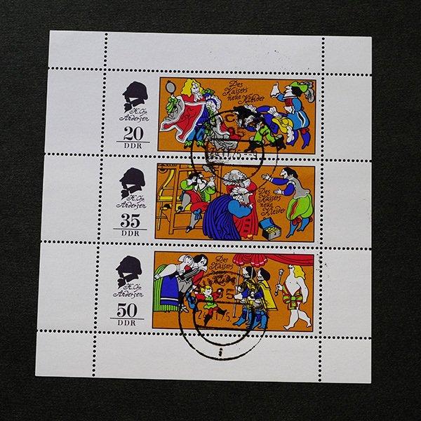 画像2: 東ドイツ 記念切手シート CTO 童話 アンデルセン 裸の王様
