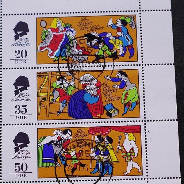 画像1: 東ドイツ 記念切手シート CTO 童話 アンデルセン 裸の王様