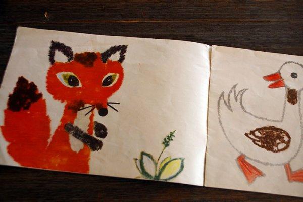 画像2: 東ドイツ 塗り絵イラストブック 私たちの小さな世界