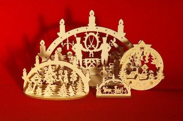 画像4: ドイツ ドレスデンクリスマスマーケット シュヴィップボーゲン Lサイズ クリッペ