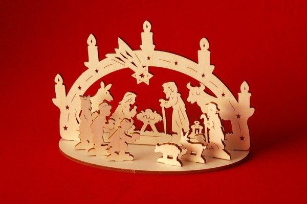 画像1: ドイツ ドレスデンクリスマスマーケット シュヴィップボーゲン Lサイズ クリッペ