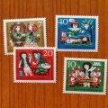 西ドイツ 1962年 グリム童話シリーズ 白雪姫 未使用4種