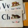 グルジア  フランス語アルファベット教材 1965年 54カード
