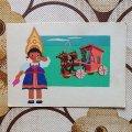 ソヴィエトポストカード 30387 1966年 未使用 伝統民芸品と子供シリーズ イヴァノボの民芸品