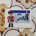 ソヴィエトポストカード 30385 1966年 未使用 伝統民芸品と子供シリーズ ウラルの民芸品