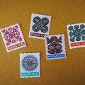 ポーランド切手 1971年 伝統工芸ヴィチナンキ 切り絵 セット