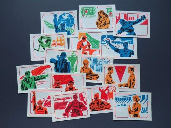 画像1: ソヴィエトマッチラベル 労働フルカラー 16種類