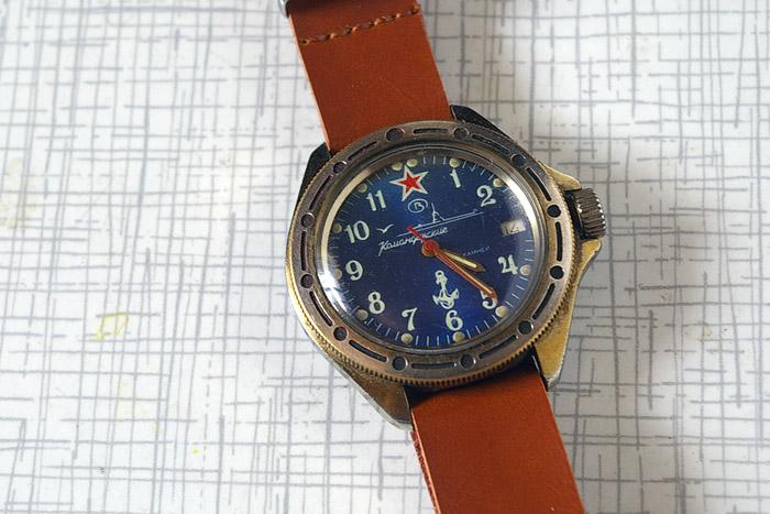 info for 3add0 c6a78 ソヴィエト 手巻き腕時計 ヴォストーク コマンダスキー ブルー