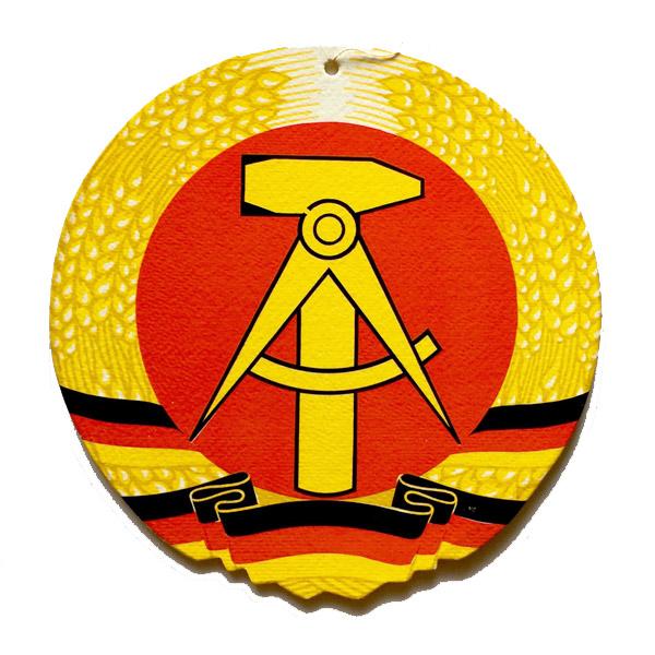 東ドイツ 国章 紙プレート - イスクラ